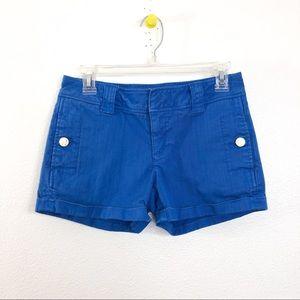 Tory Burch Blue Flap Pocket Shorts
